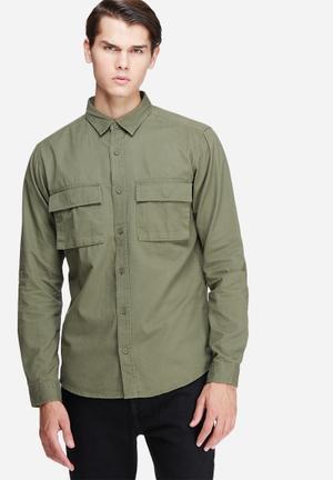 Only & Sons Malfred Regular Shirt Khaki