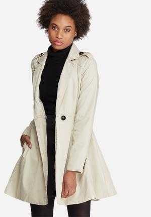 Vero Moda Michelle Abby Trench Coat Jackets Beige