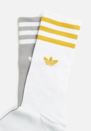Adidas Originals 2 Pack Crew Sock