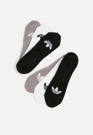Adidas Originals No Show 3 Pack Socks
