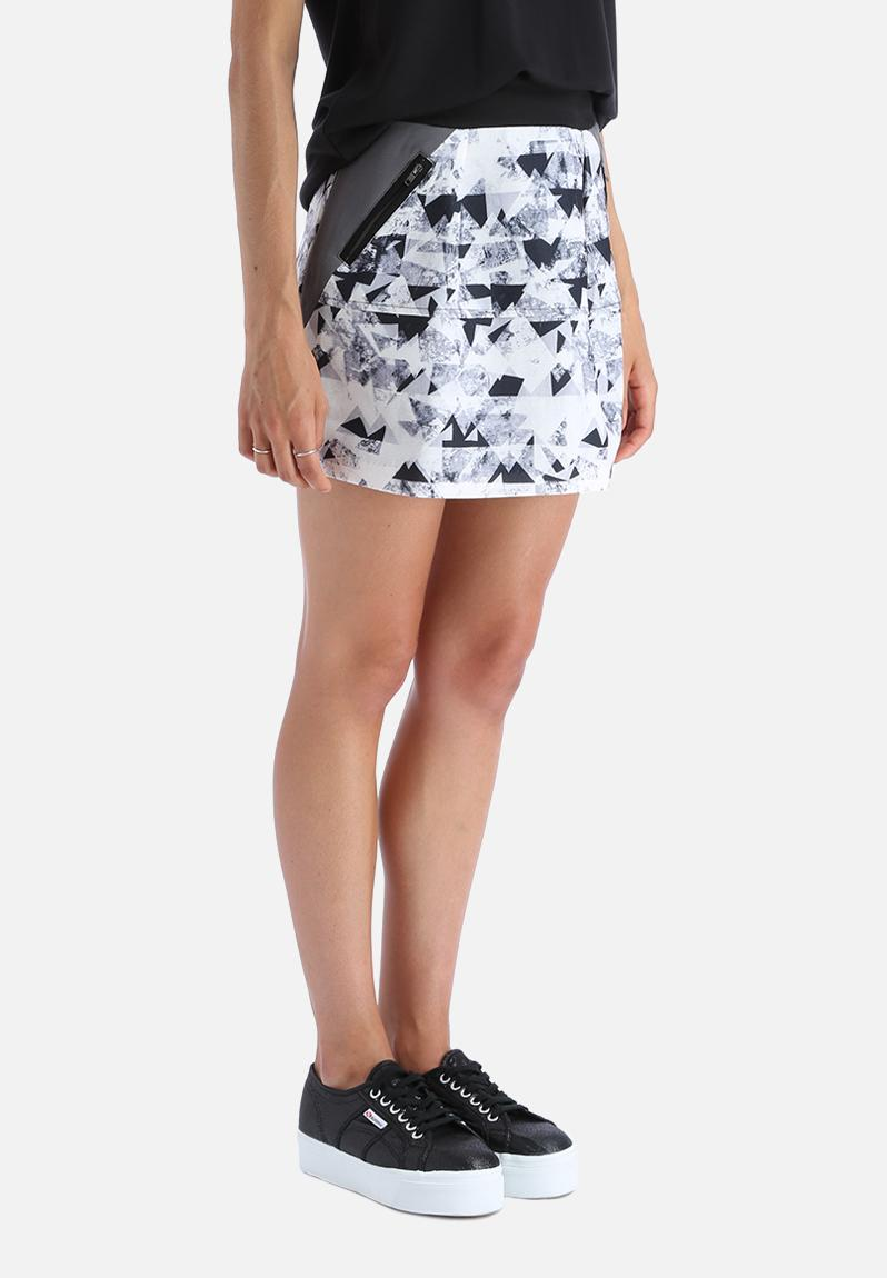 Reflect skirt eiffel tower with black print y a s skirts