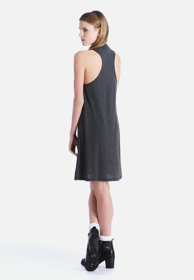 Cool Women Clothing Gt Dresses Gt Asymmetric Dresses Gt Polyester Dark Grey