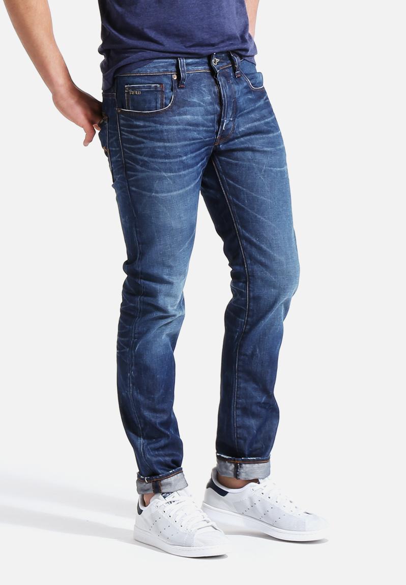3301 slim hydrite denim medium aged g star raw jeans. Black Bedroom Furniture Sets. Home Design Ideas