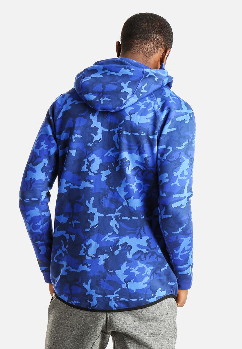 nike tech camo hoodie blue nike hoodies. Black Bedroom Furniture Sets. Home Design Ideas