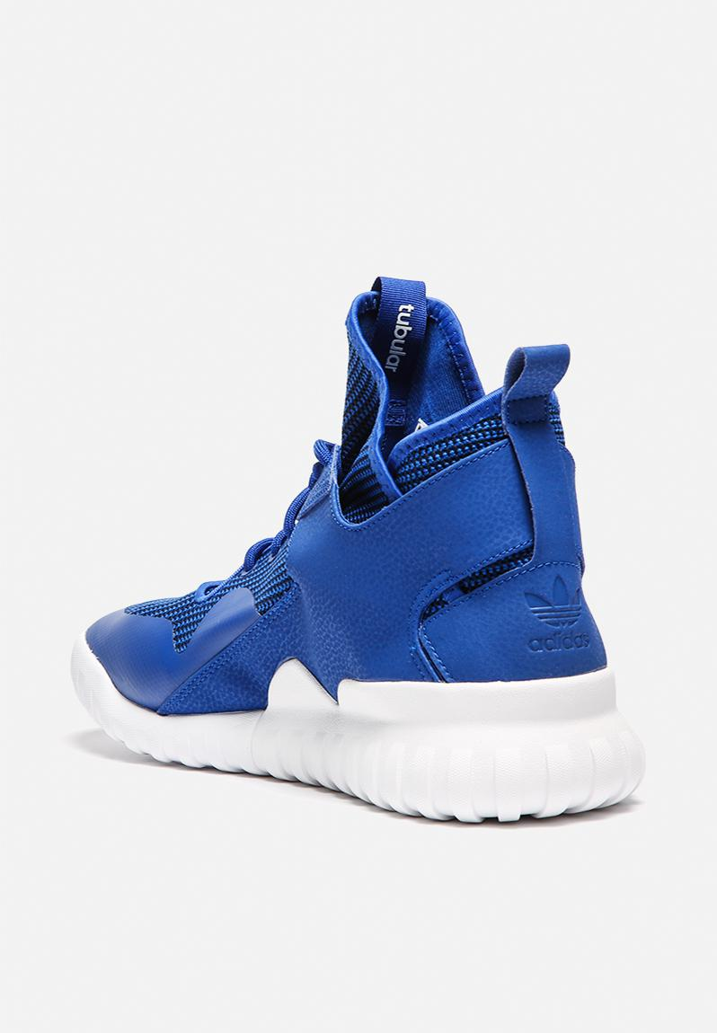 BLU Men's adidas Tubular X Casual Shoes Collegiateoyal/Royal/White