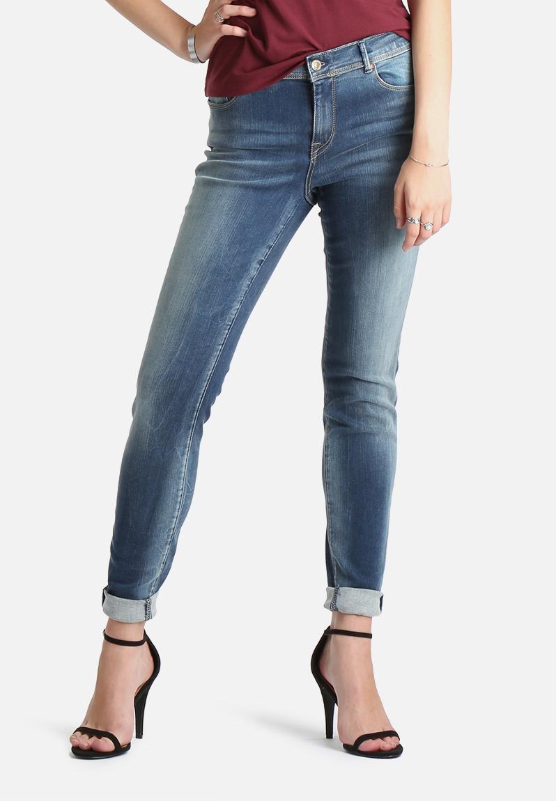 shape regular skinny jeans medium blue only jeans. Black Bedroom Furniture Sets. Home Design Ideas