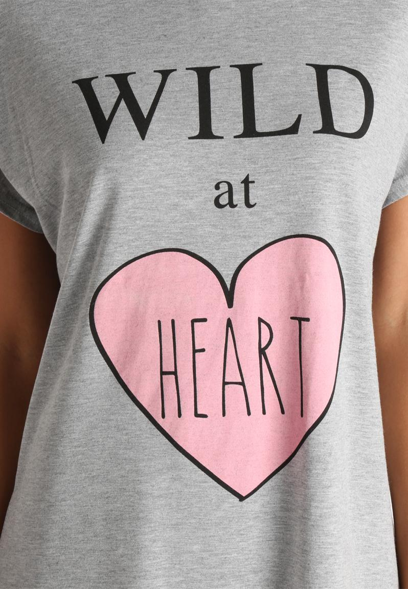 wild at heart grey adolescent clothing sleepwear. Black Bedroom Furniture Sets. Home Design Ideas