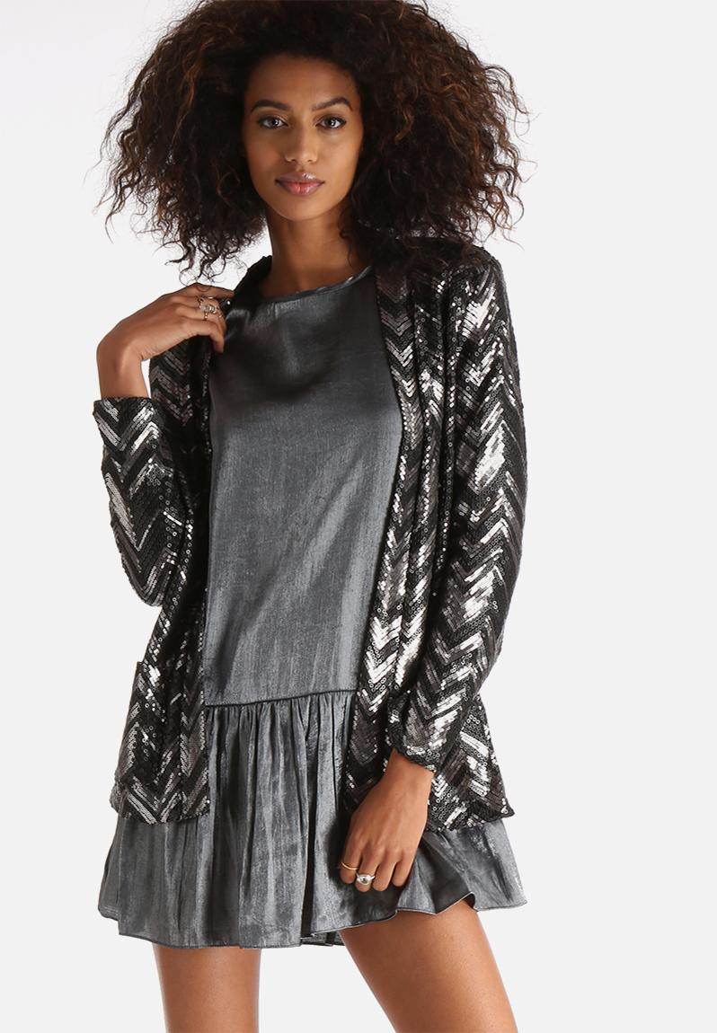 Jagger Sequin Jacket - Silver and Black Goldie Jackets ...