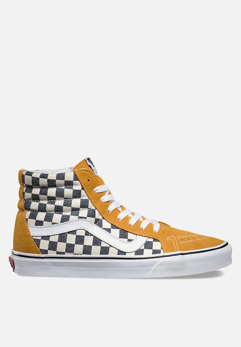 Vans Checkerboard Sk8 Hi Reissue Spruce Yellow Navy