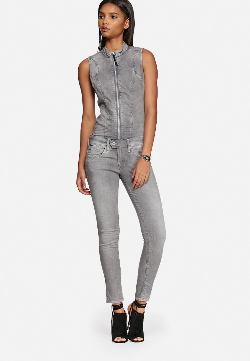 lynn zip slim sleeveless suit light aged g star raw jumpsuits. Black Bedroom Furniture Sets. Home Design Ideas