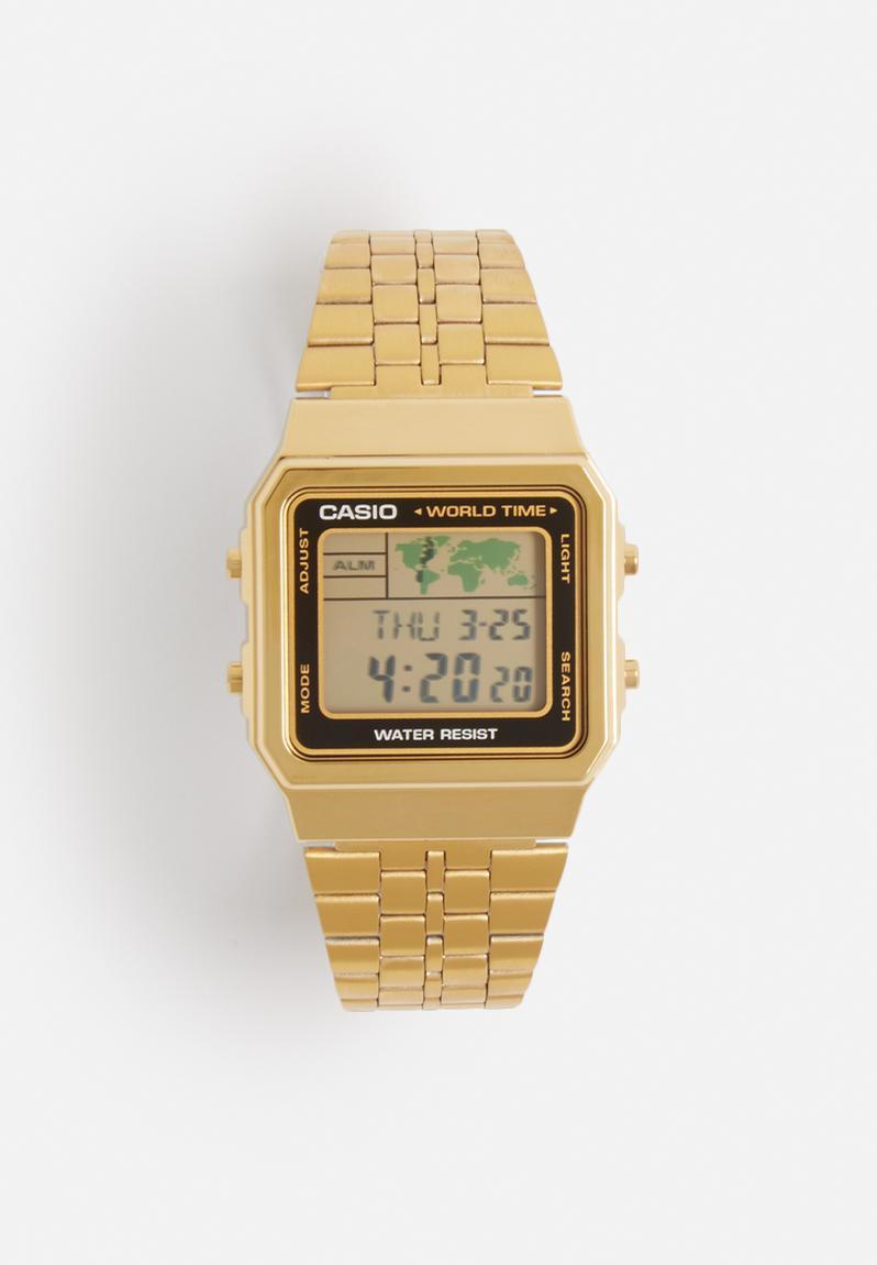 Digital wrist watch – gold & black Casio Watches ...