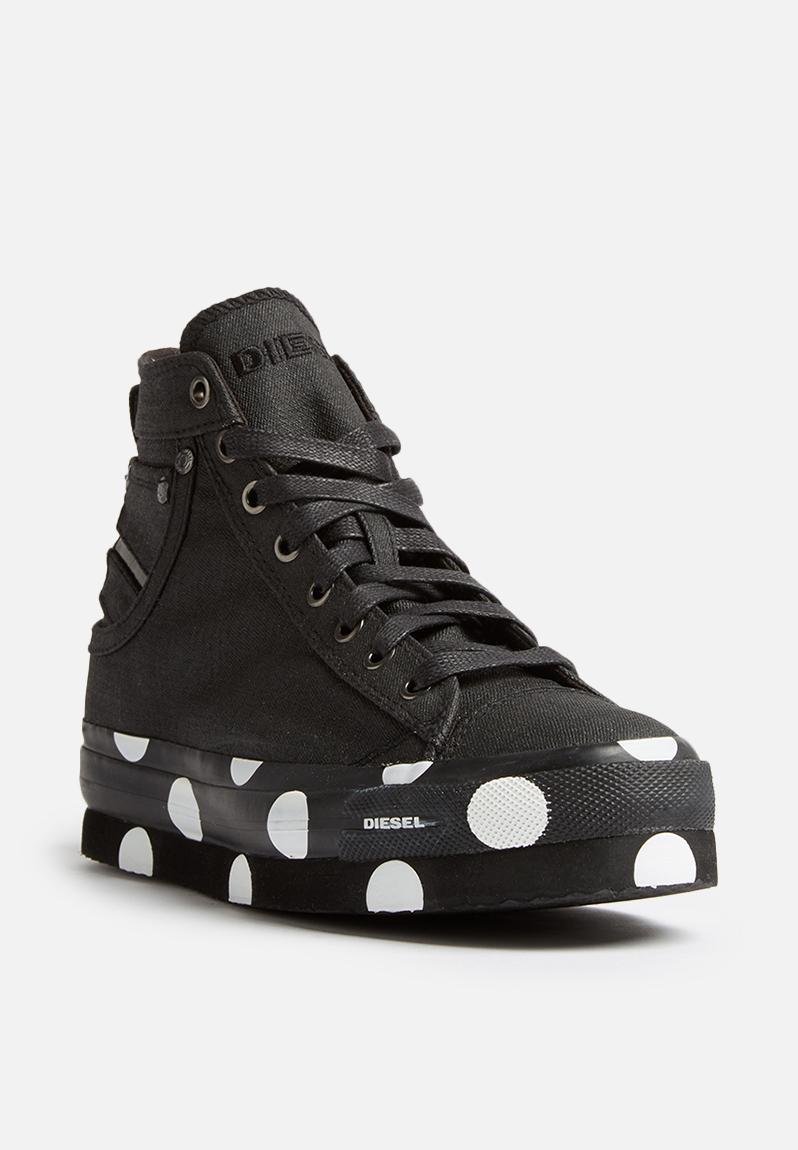 Exposure Flatform - black polka Diesel Sneakers ...