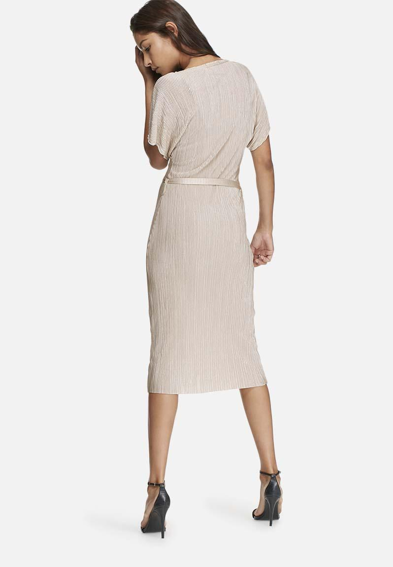 pliss 233 midi dress with self fabric belt pink dailyfriday