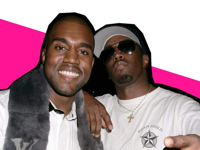 Kanye West and Puff Daddy