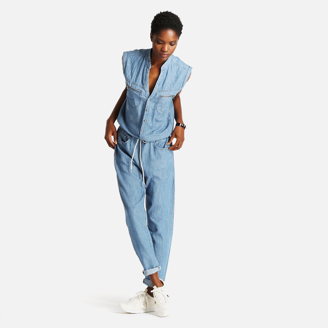 midge jumpsuit light aged restored g star raw jumpsuits. Black Bedroom Furniture Sets. Home Design Ideas