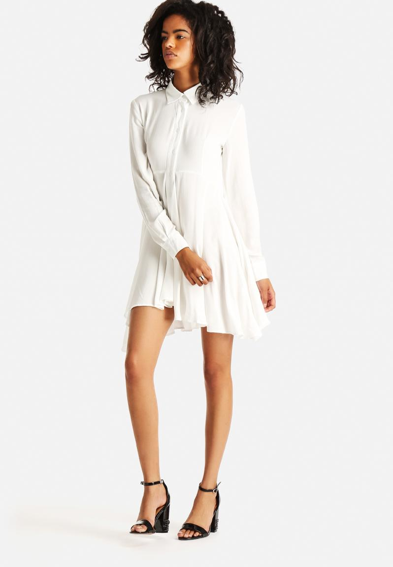 Risky Business Shirt Dress White The Lot Casual