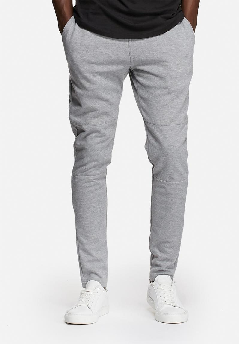 Plain Joggers Light Grey Melange Jack Amp Jones Core
