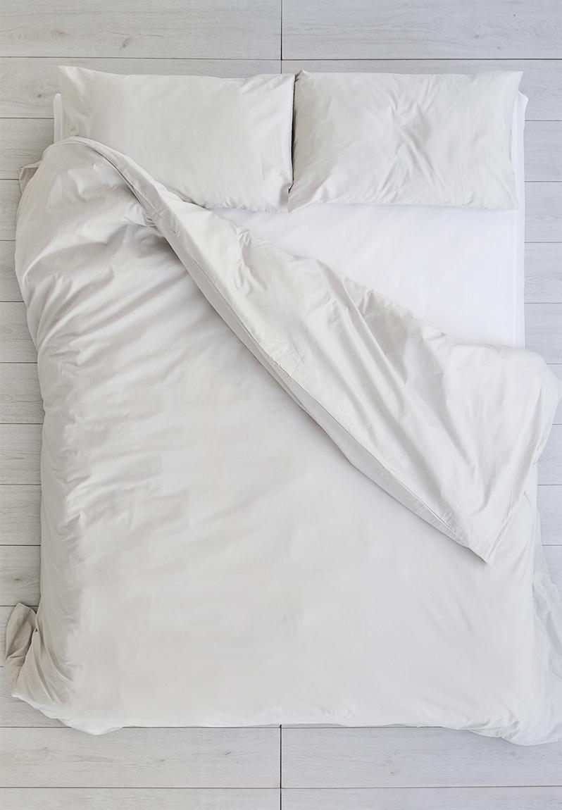 Cotton Duvet Cover Light Grey Sixth Floor Bedding