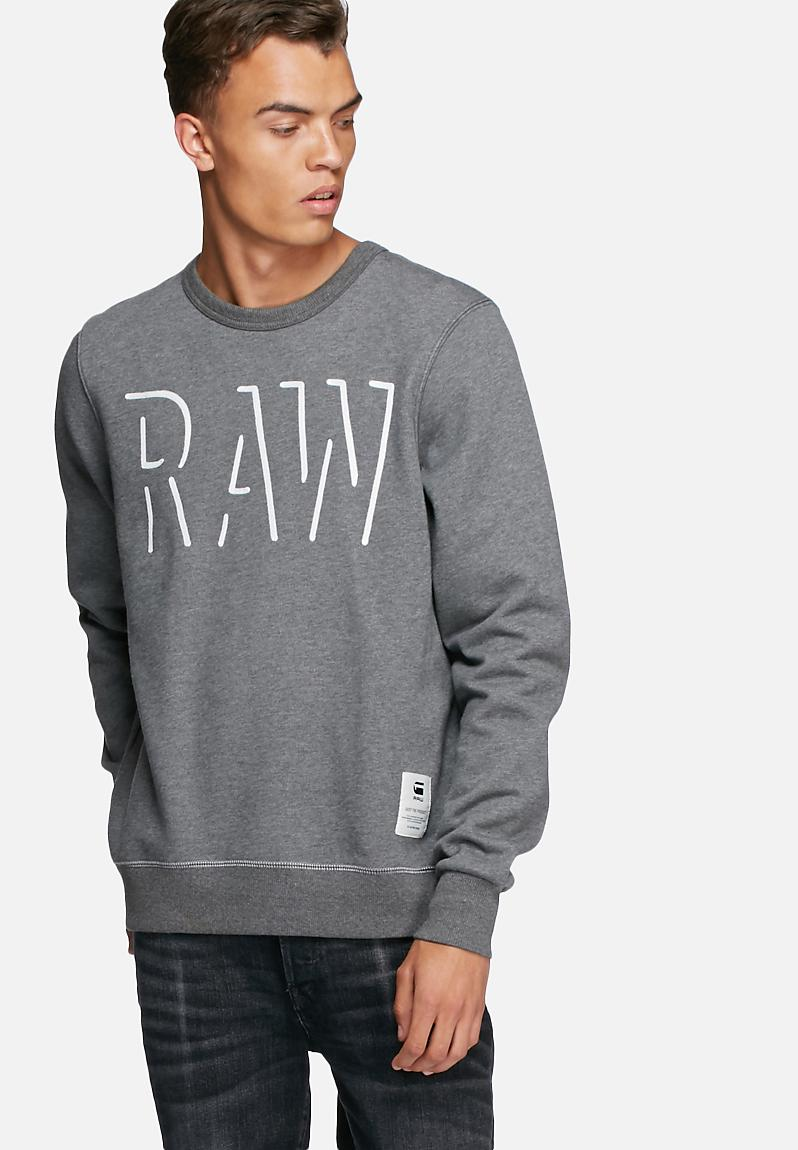 vasif r sweater sherland sweat grey heather g star raw hoodies. Black Bedroom Furniture Sets. Home Design Ideas