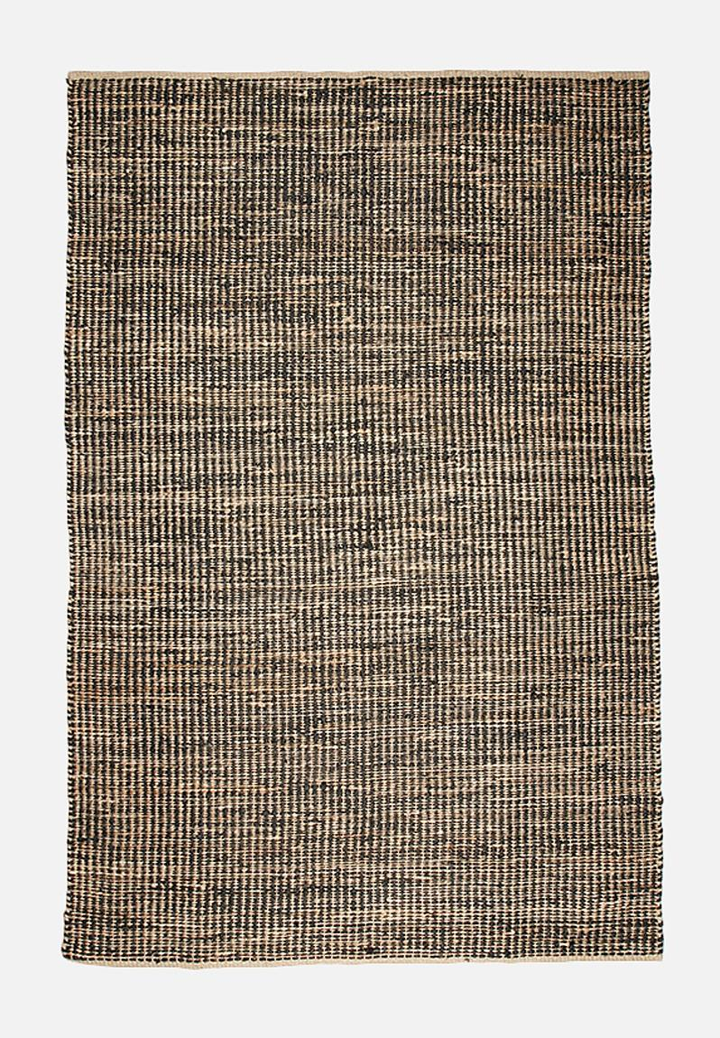 jute stripe natural black sixth floor rugs. Black Bedroom Furniture Sets. Home Design Ideas