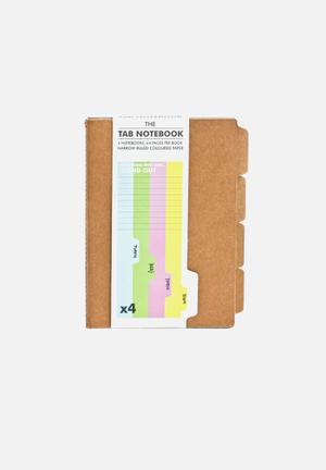 Suck UK The Tab Notebook Gifting & Stationery Multi