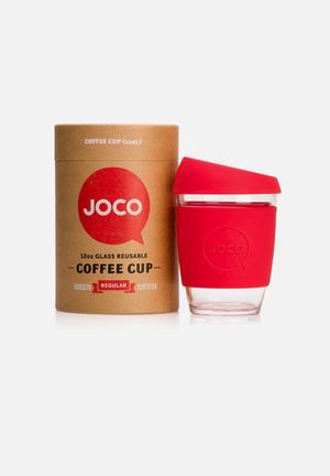 Joco Glass Coffee Cup 350ml Drinkware & Mugs Red
