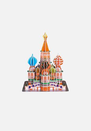 CubicFun St Basil's Cathedral 3D Puzzle EPS Foam Board