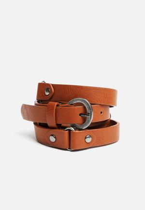 New Look Carly Utility Belt  Tan