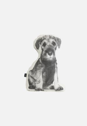 Ménagerie Rex Dog Cushion  100% Cotton & Waterbased Ink