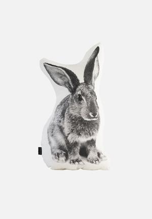 Ménagerie Peter Rabbit Cushion Stone & Black