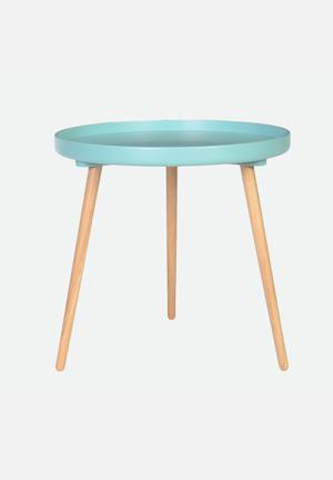 Sixth Floor Tray Table  Turquoise