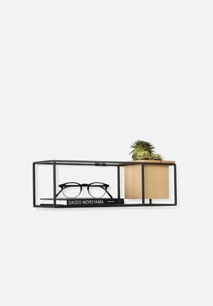 Umbra Cubist Wall Display Accessories Natural Beech & Black