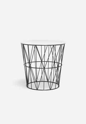 Sixth Floor Monochrome Table Black & White