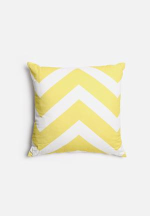Sixth Floor Chevron Printed Cushion Yellow