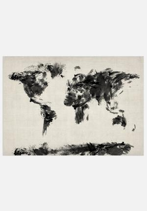 ArtPause World Map - Dark Art