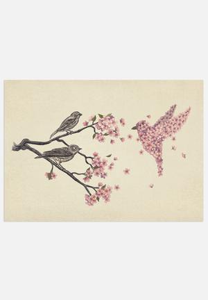 Terry Fan Blossom Bird Art
