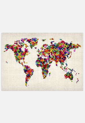 ArtPause World Map Heart