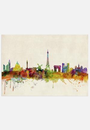 ArtPause Paris Skyline Panoramic Art