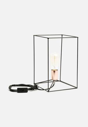 Sixth Floor Square Table Lamp Lighting Metal