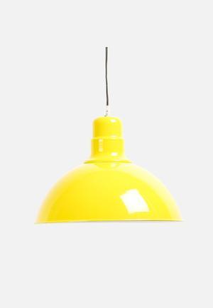 Sixth Floor Industrial Pendant Lighting Yellow