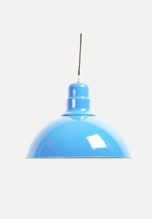 Sixth Floor Industrial Pendant Lighting Blue