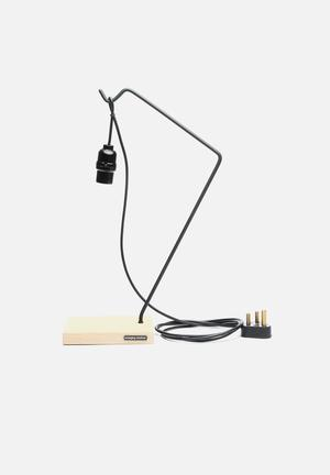 Emerging Creatives Jennifer Table Lamp Lighting Oak Wood & Steel