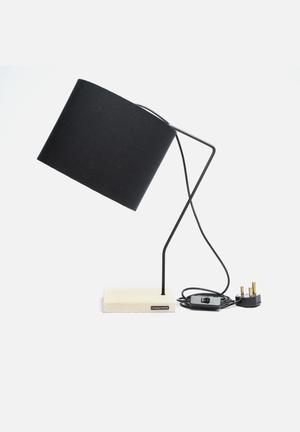 Emerging Creatives Fay Side Lamp Lighting Black Shade