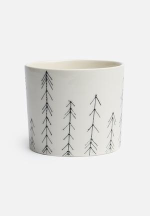 Urchin Art Small Cylinder Vase Accessories Black Arrows