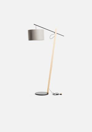Emerging Creatives Vanessa Corner Lamp Lighting Light Grey