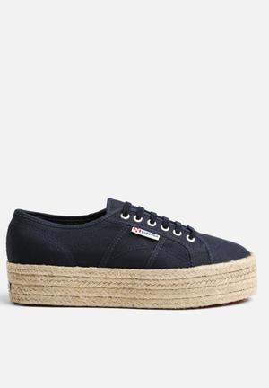 SUPERGA 2790 Espadrille Wedge Sneakers Navy